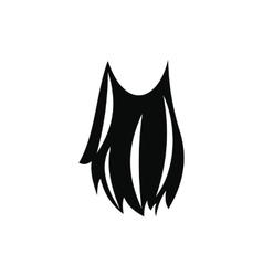 Leprechaun beard black simple icon vector