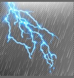 Lightning strike Rain template with flash EPS 10 vector image
