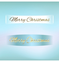 Merry Christmas ribbon vector image vector image