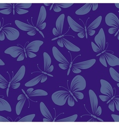 night moth butterflies seamless background vector image