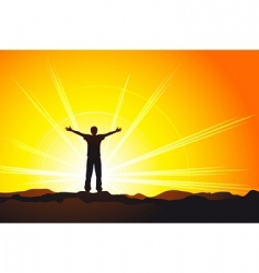 on top of the world vector image vector image