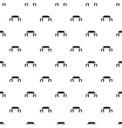 Pagoda pattern simple style vector image vector image
