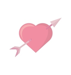 pink heart arrow love symbol vector image