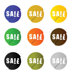 sale icon set in circle color vector image