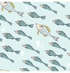 Seamless pattern of swimming fish vector image vector image