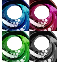 Set of abstract swirl backgrounds vector image vector image