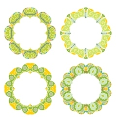 Set of decorative round frames vector image