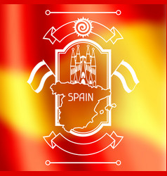 Spain background design on blurred flag spanish vector