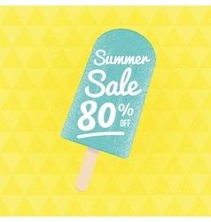 Summer sale 80 per cent off vector