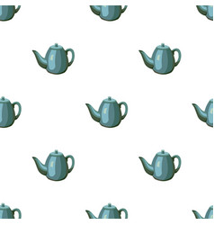 Teapot icon in cartoon style isolated on white vector