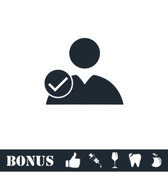 User check icon flat vector image vector image