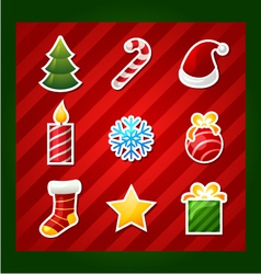 Christmas items icons vector