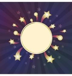 White frame on sparkle background vector