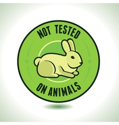 not tested on animals label vector image