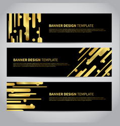 banner covers with gold geometric pattern vector image