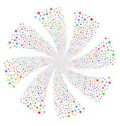 confetti star fireworks swirl rotation vector image