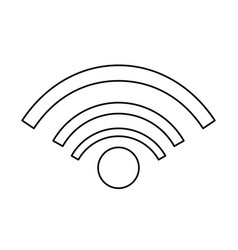 wifi internet connected online signal line vector image