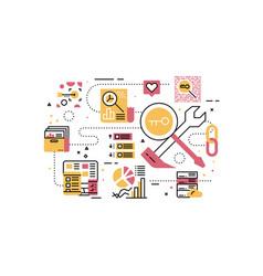 Search engine optimization recruitment employee vector
