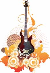 urban guitar graphic vector image