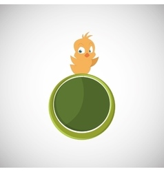 Animal design chicken icon isolated vector