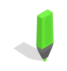 Marker icon isometric 3d style vector