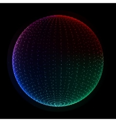 Abstract dotted particles 3d sphere vector image