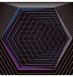 Abstract polygonal background with hexagons vector
