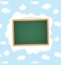 Blackboard hangs on a cloud vector