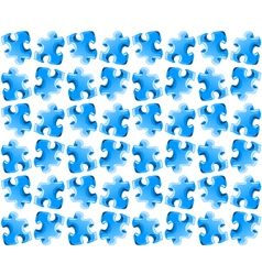 Blue puzzle seamless background vector image