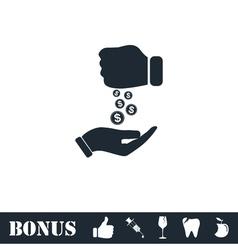 Bribe icon flat vector image vector image