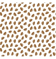 Cedar nuts seamless pattern background vector