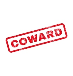 Coward text rubber stamp vector