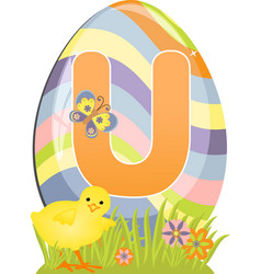 Cute initial letter U vector image