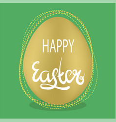 easter egg and lettering spring greeting card vector image vector image