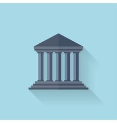 Flat school univercity buildig icon vector