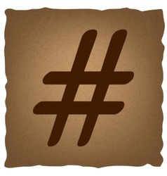Hashtag sign Vintage effect vector image vector image