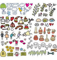 icon drawings vector image vector image