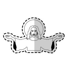 jesus christ christian icon image vector image