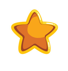 Logo with cartoon groove star vector