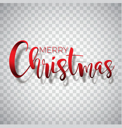 merry christmas typography on a vector image vector image