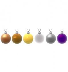 metallic Christmas balls vector image vector image