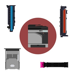 Print equipment vector