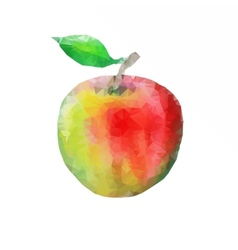 ripe apple with leaf vector image