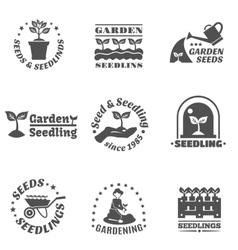 Seedling Label Set vector image vector image
