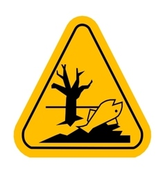 Sign of poisonsous Dead fish vector image