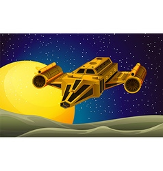 Spaceship flying in the space vector image vector image