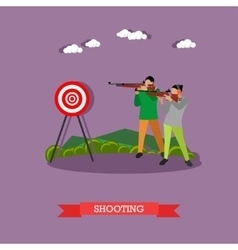 Sport shooting range banner competition games vector