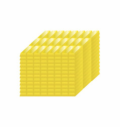 Stacked gold bars vector