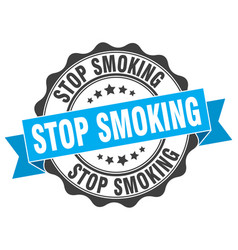 Stop smoking stamp sign seal vector