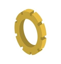 tridimensional silhouette gear wheel icon vector image vector image